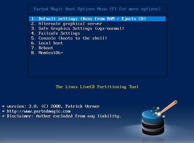 Images of the partitionning tools